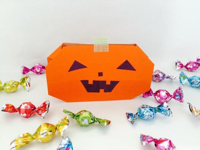 Origami Pumpkin Bag Video Instructions via @paper_kawaii