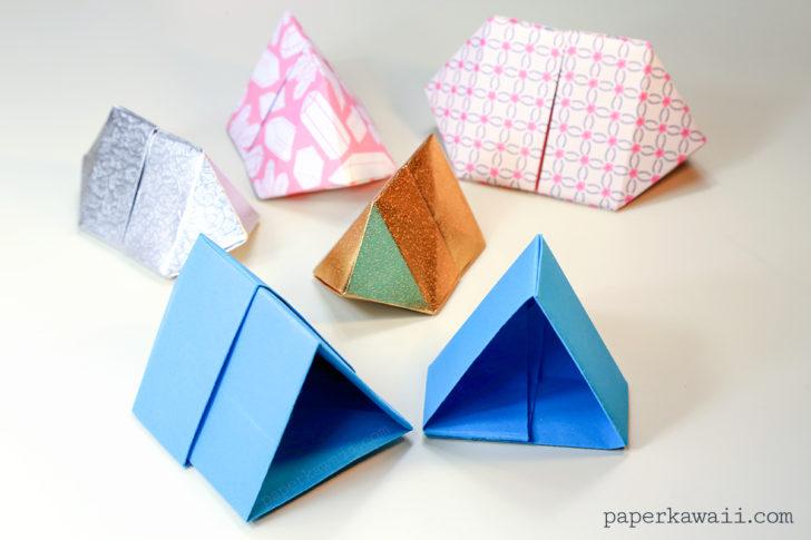 Origami Bipyramid Gift Box Tutorial Dipyramid Crafts Diy