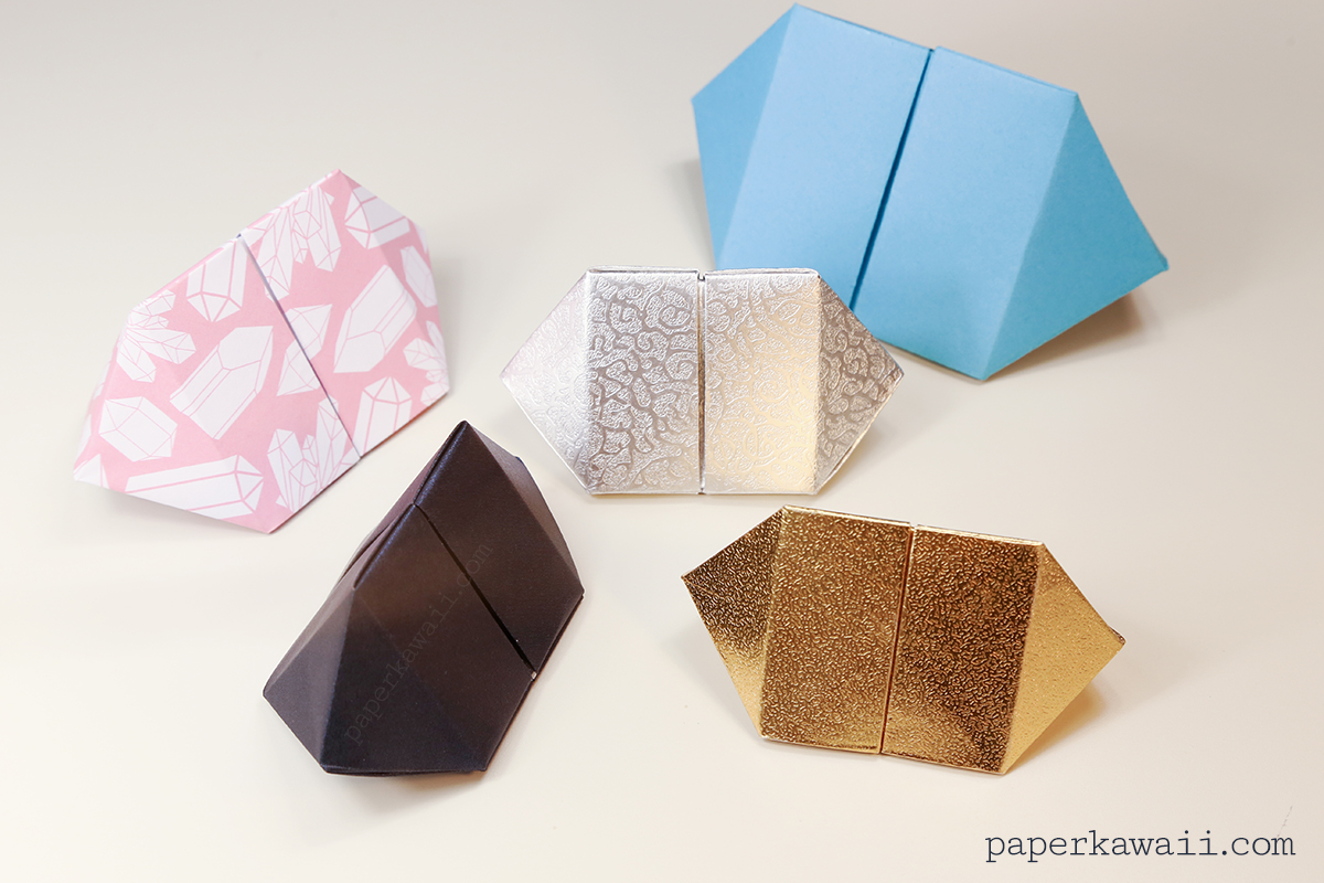 Origami Bipyramid Gem Box Instructions - Paper Kawaii - photo#12