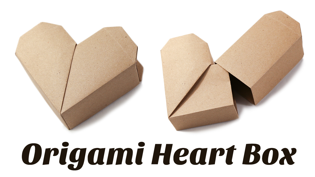 Origami heart box with lid instructions and diagram   720x1280