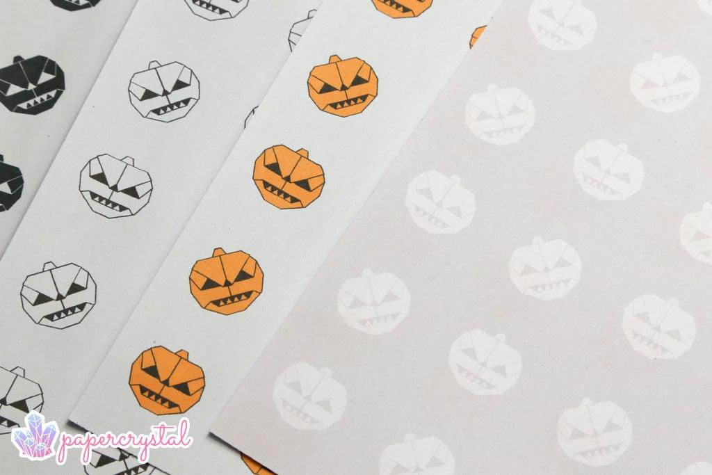 Pumpkin Pattern - Free Printable Origami Paper via @paper_kawaii