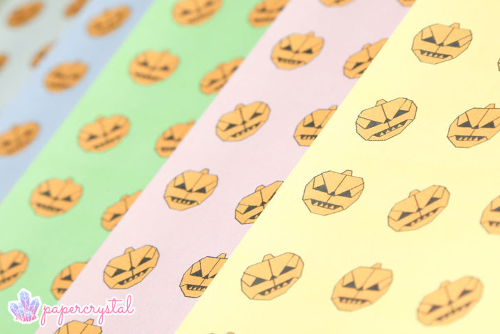 Pumpkin Pattern - Free Printable Origami Paper via @paper_kawaii