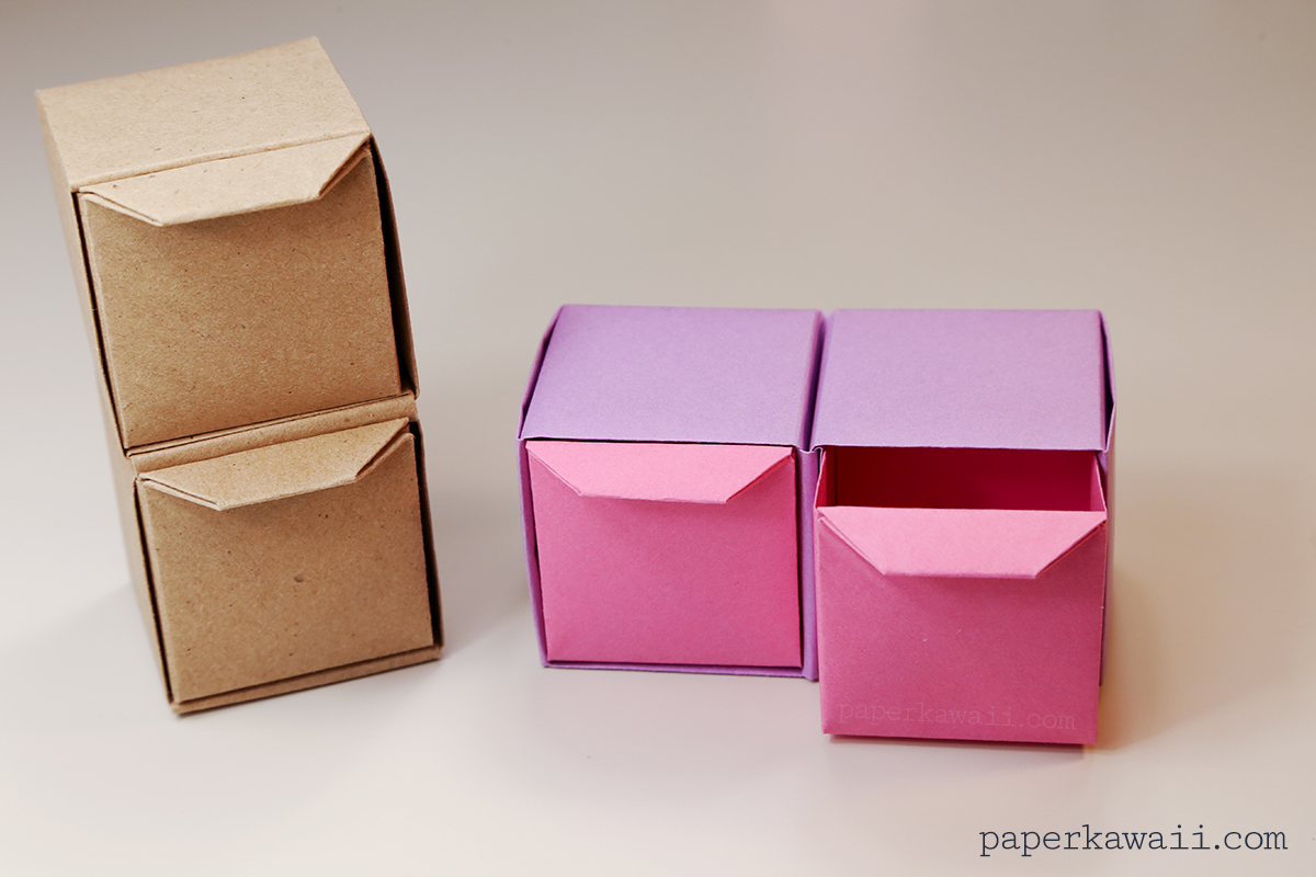 Origami Pull Out Drawers Instructions - Paper Kawaii - photo#35