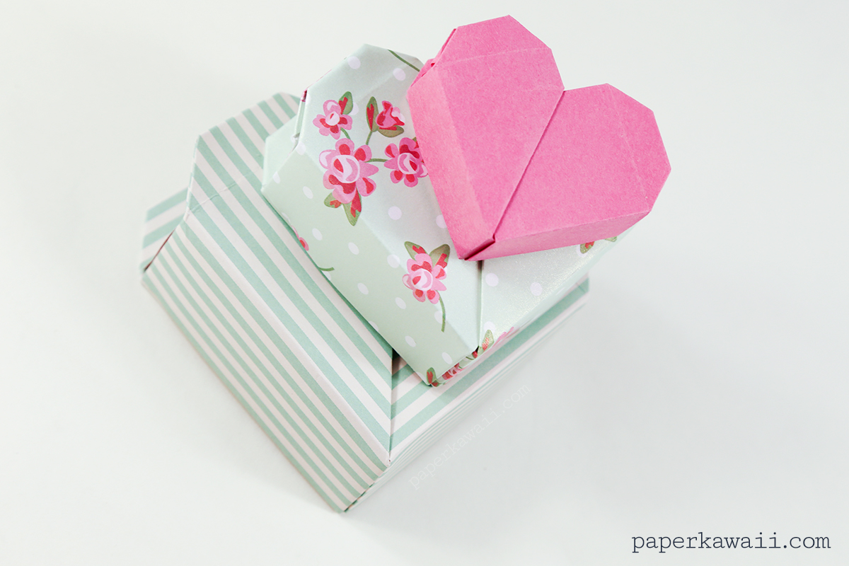 Origami Heart Box Video Instructions - Paper Kawaii - photo#23