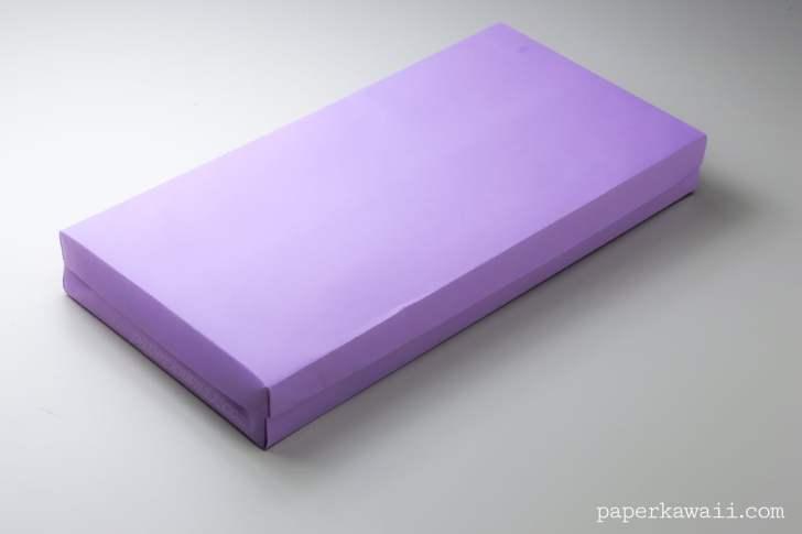 Flat Origami Box Instructions via @paper_kawaii