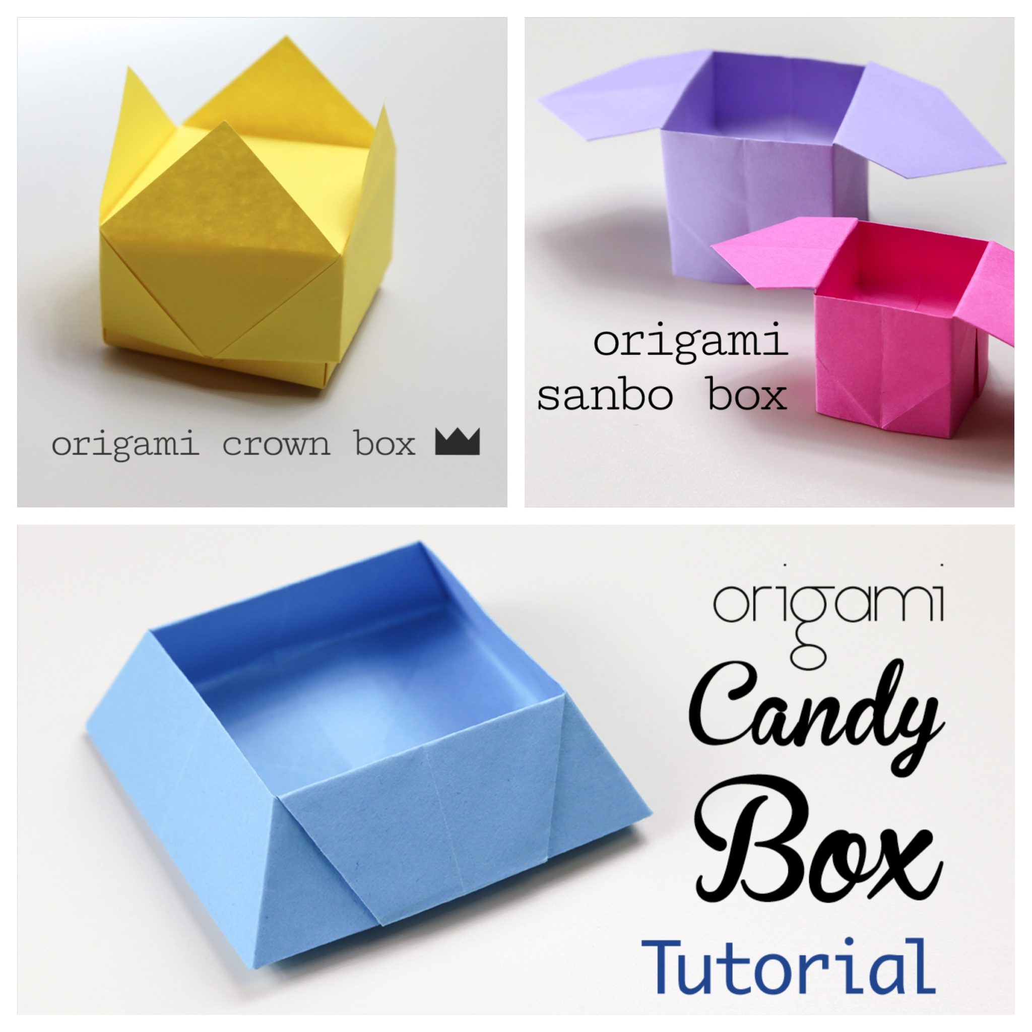 3 Easy Origami Boxes u2013 Photo Instructions  sc 1 st  Paper Kawaii & Easy Origami Dollhouse Tutorial - DIY Paper House! - Paper Kawaii