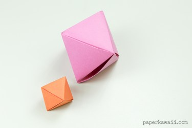 Origami Octahedron Box / Decoration Instructions - Paper Kawaii - #origami #box #octahedron #crafts #diy #star