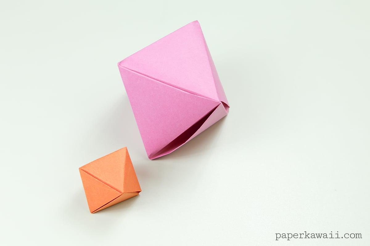 Origami Octahedron Box / Decoration Instructions ♦ - Paper ... - photo#39