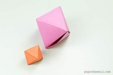 Origami Octahedron Box / Decoration Instructions ♦ via @paper_kawaii