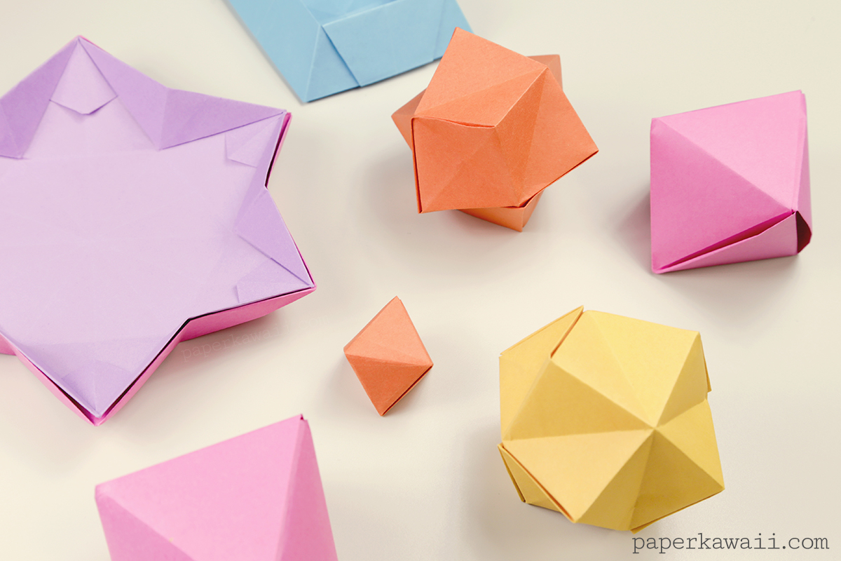 Origami Stellated Octahedron Inflatable Star Instructions Halloween Diagrams Via Paper Kawaii