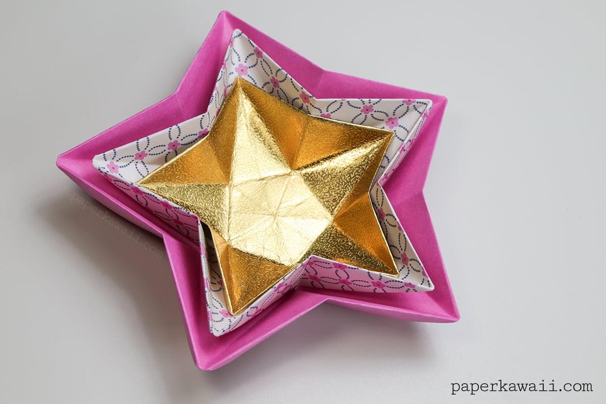 Origami Star Bowl Instructions - Paper Kawaii - photo#20