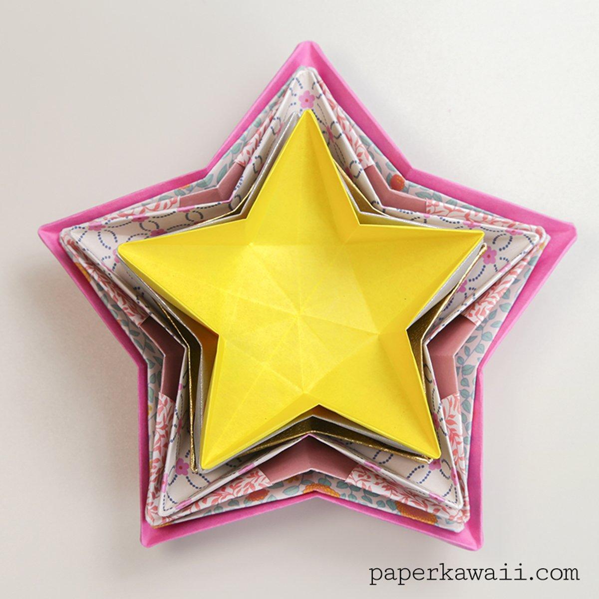 Origami Star Bowl Instructions - Paper Kawaii - photo#23