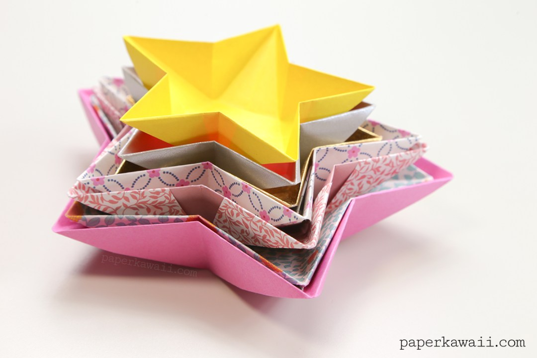 Origami Star Bowl Instructions via @paper_kawaii