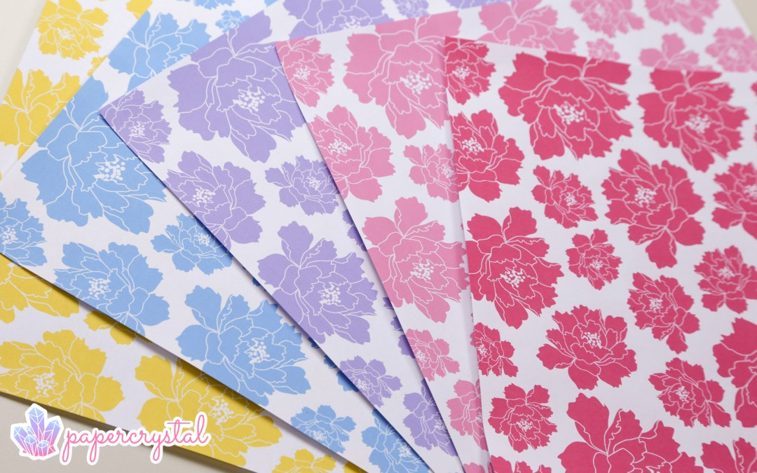 Free Origami Paper - Peony Pattern via @paper_kawaii