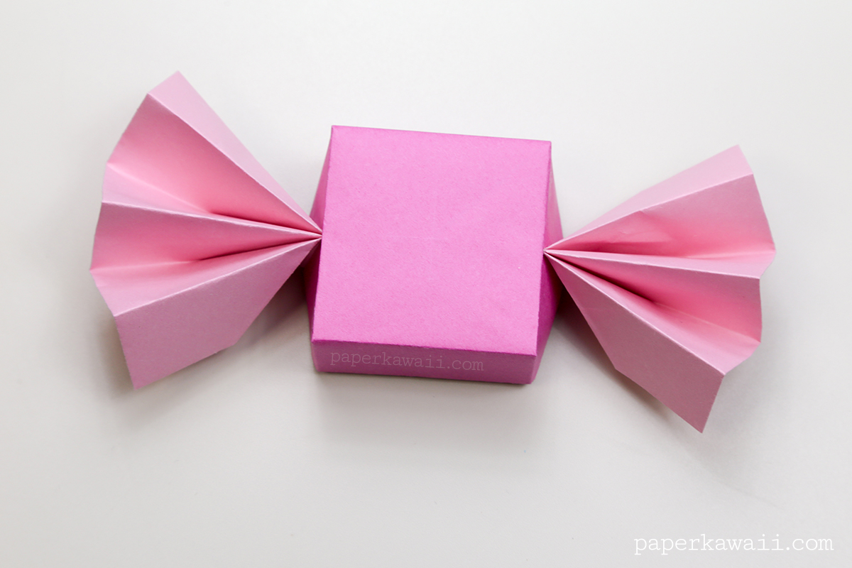 Origami Candy Box & Lid Instructions - Paper Kawaii