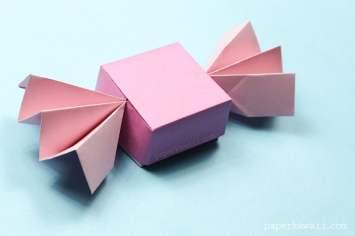 Origami Candy Box & Lid Instructions via @paper_kawaii