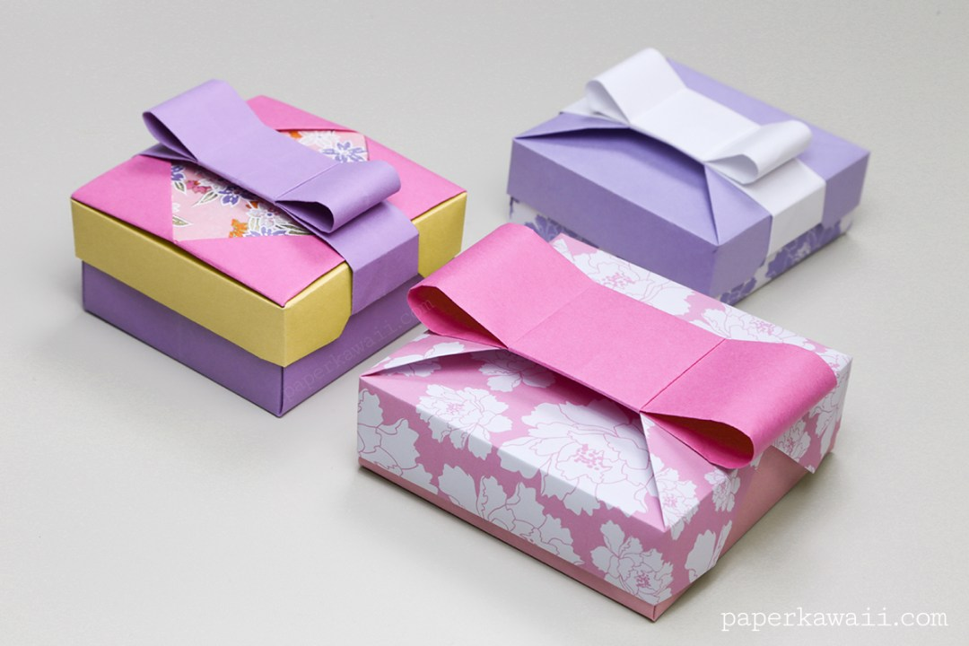 origami gift box mix amp match lids paper kawaii