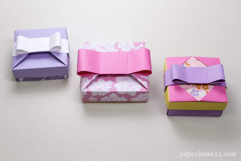 Origami Gift Box - Mix & Match Lids via @paper_kawaii