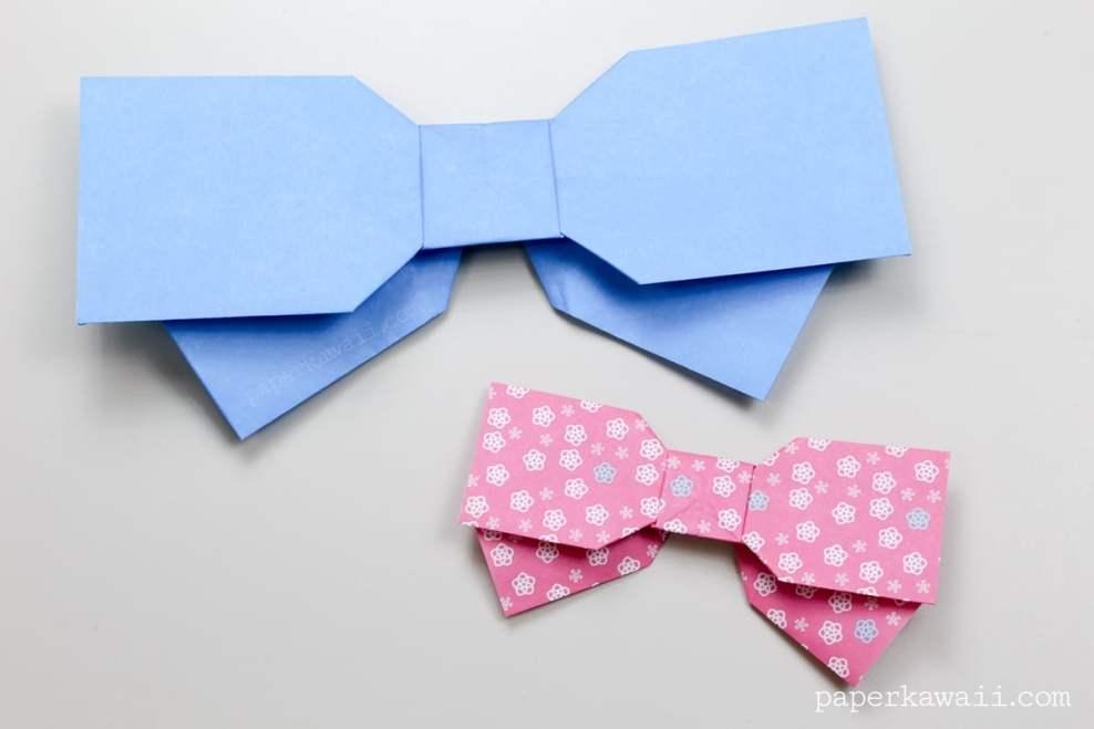 Origami Bow Instructions - Layered via @paper_kawaii