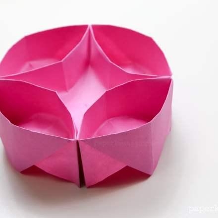 origami lazy susan instructions #origami #lazysusan #instructions #diy #crafts