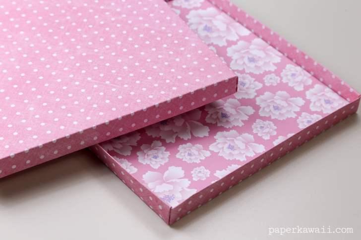 Origami Paper Storage Box Instructions DIY via @paper_kawaii
