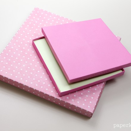 Origami Flip Top Box Instructions via @paper_kawaii