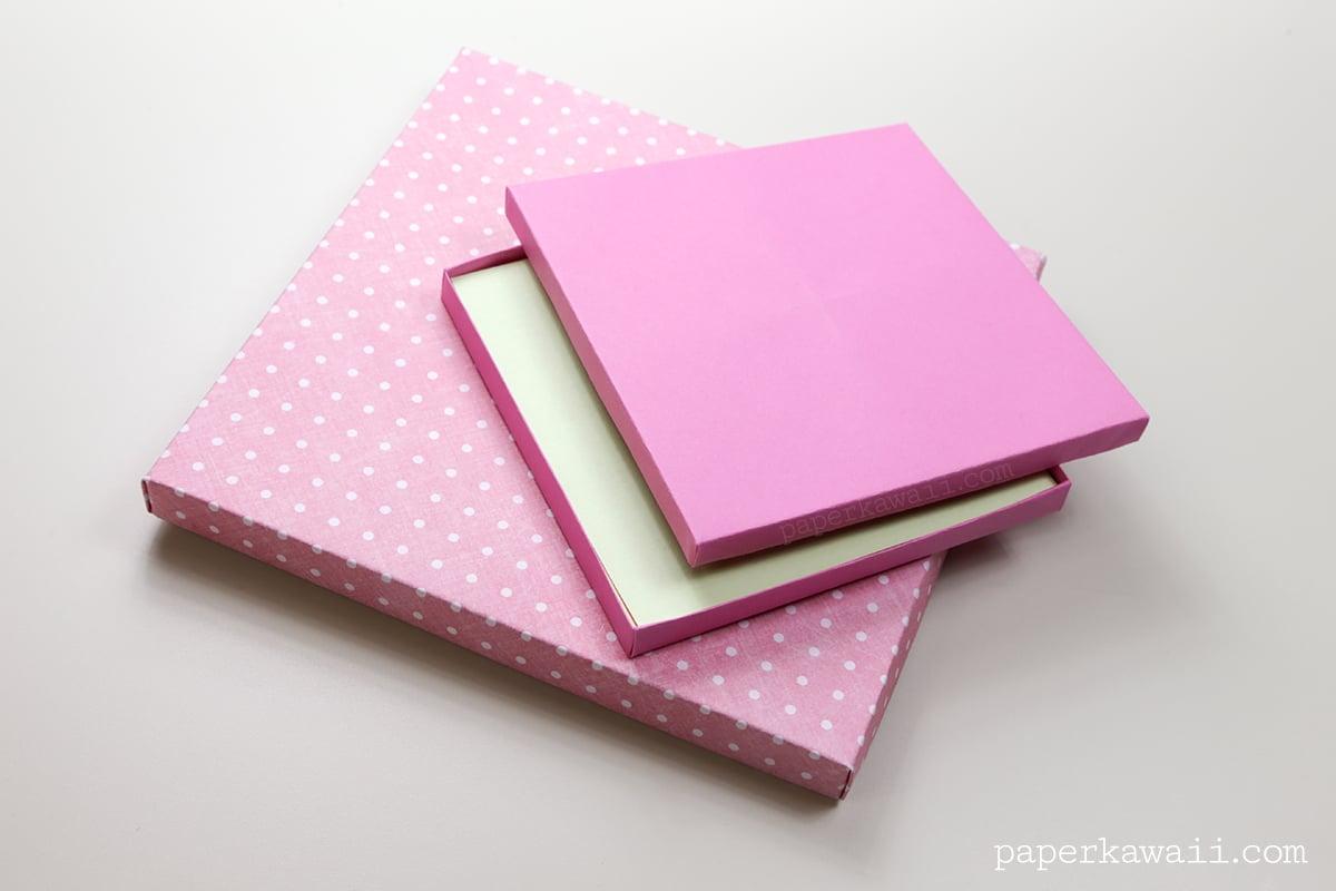 Origami Paper Storage Box Instructions Diy Paper Kawaii