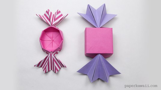 round origami candy box instructions - #diy #crafts #origami #candy