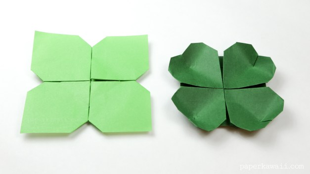 Origami Clover / Flower Instructions