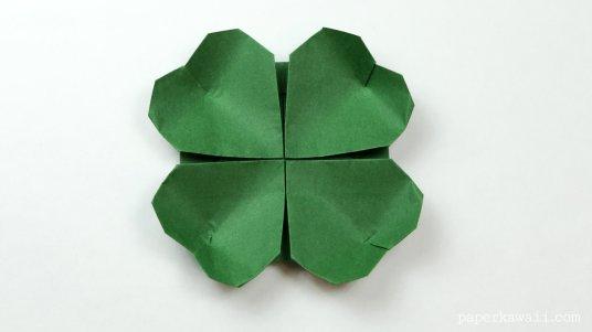 origami clover flower instructions #origami #diy #crafts #clover #flower