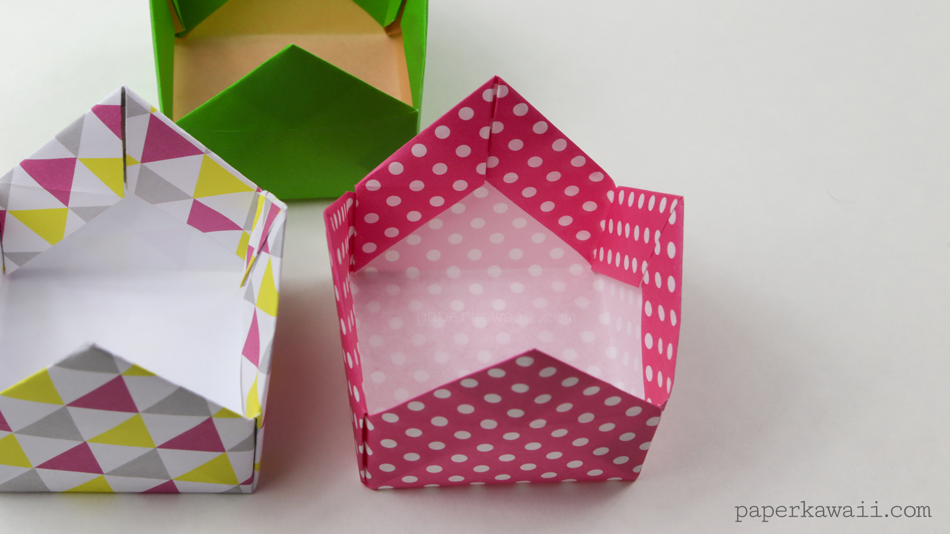 Origami Crown Box or Lid Instructions - Paper Kawaii - photo#24