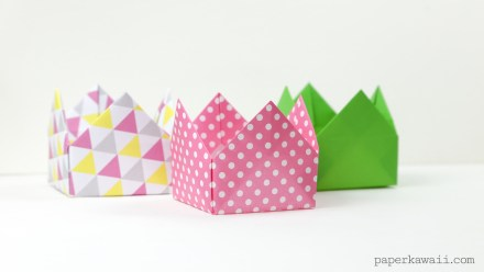 Origami Crown Box or Lid Instructions