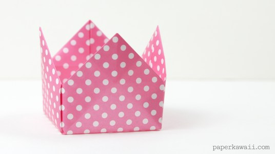 Origami Crown Box or Lid Instructions via @paper_kawaii