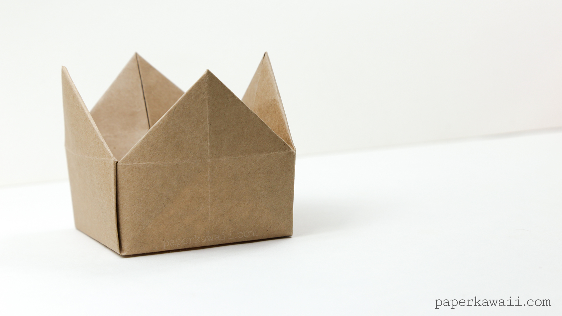 Origami Crown Box or Lid Instructions - Paper Kawaii - photo#25