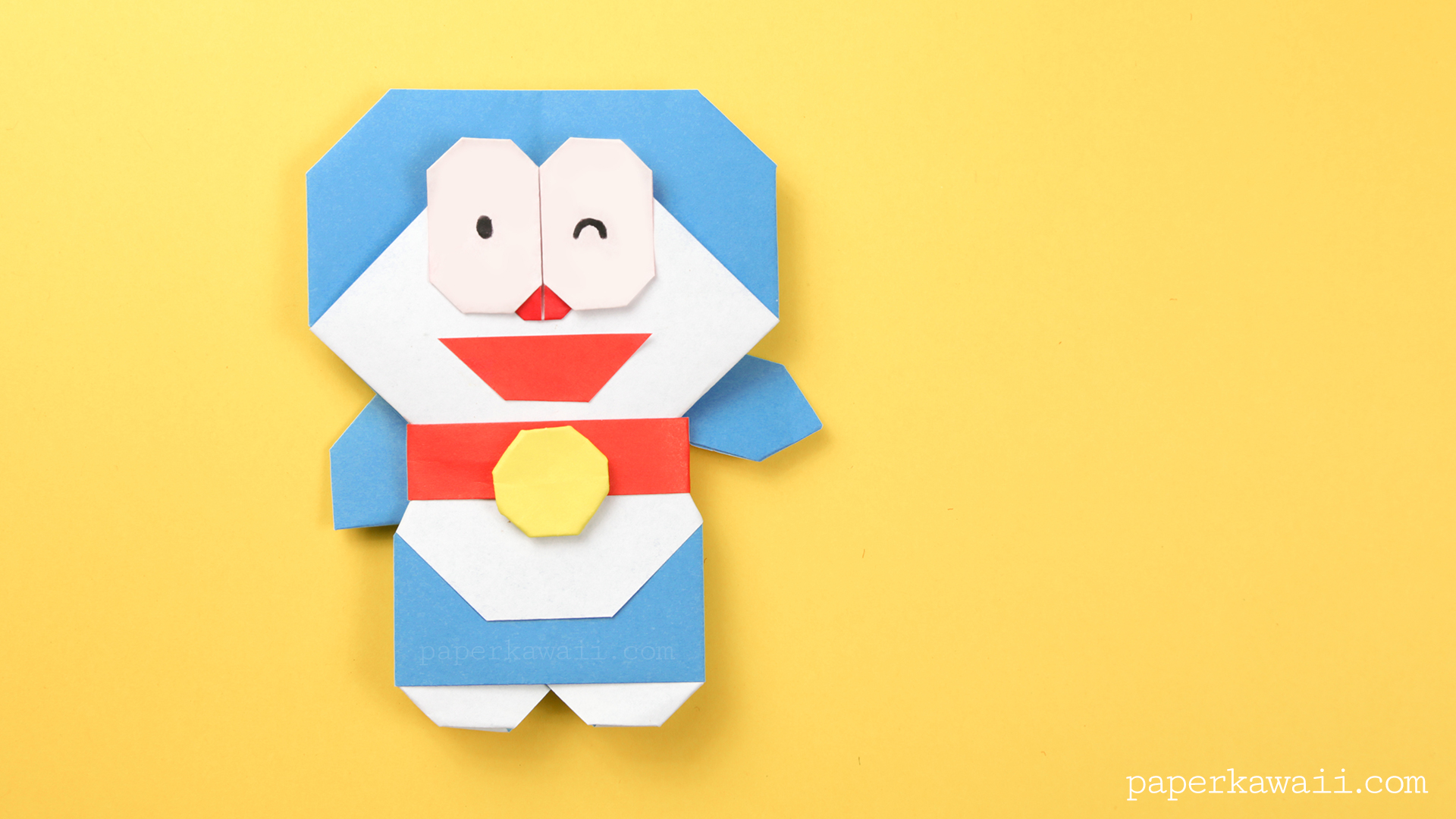 Tutorial 3D Origami : Doraemon - YouTube | 1080x1920