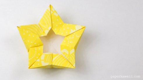 Origami Star / Flower / Crown Bowl Tutorial via @paper_kawaii
