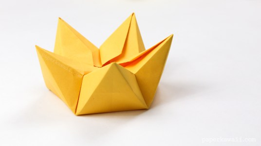 origami star flower crown tutorial #origami #diy #flower #crown #star #bowl