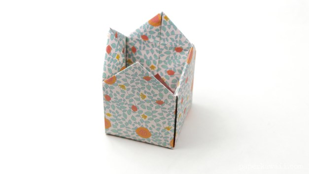 Tall Origami Crown Box Instructions