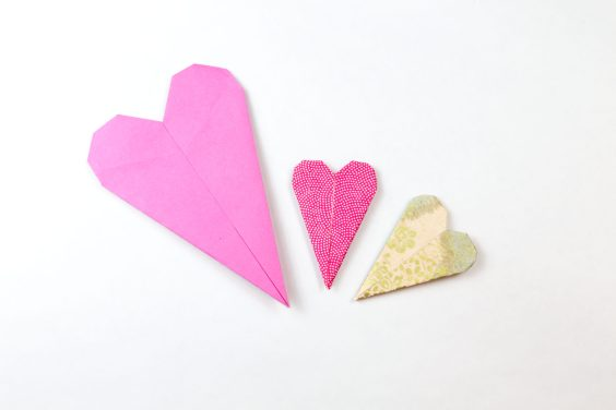 Thin Origami Heart Instructions