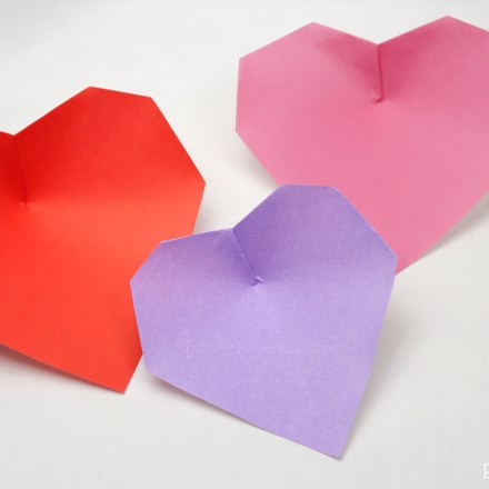 Origami Heart Bookmark Instructions via @paper_kawaii