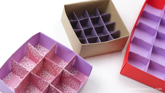 Origami 9 Section Box Divider - Tall Version via @paper_kawaii