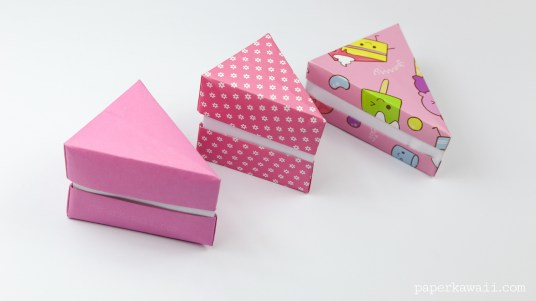 Origami cake slice box instructions paper kawaii origami cake slice box instructions pronofoot35fo Gallery