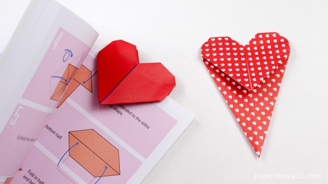 origami love heart instructions