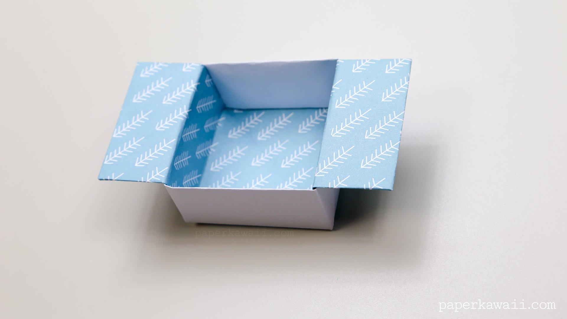origami open box instructions paper kawaii