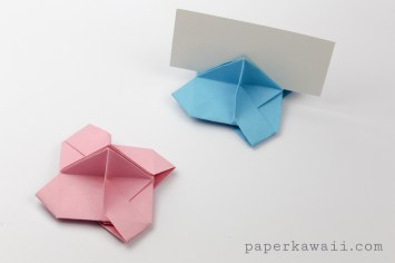Origami business card holders