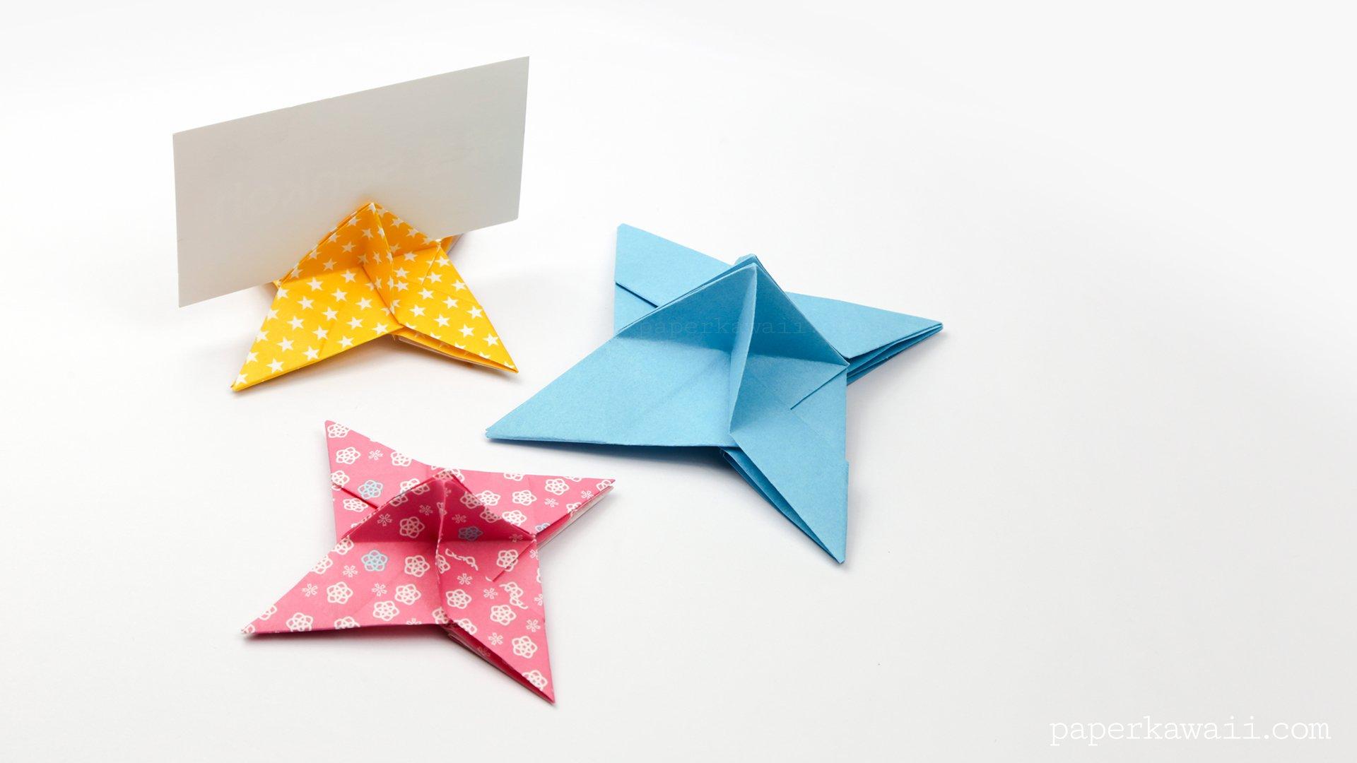 Origami Ninja Star Place Card Holder Paper Kawaii