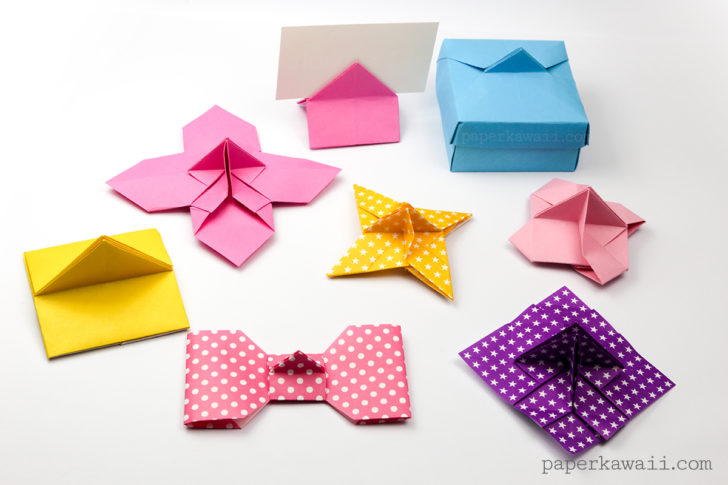 The whole family of origami card holders - Paper Kawaii #origami