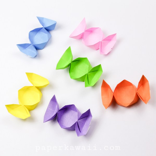 Easy Origami Candy Box Instructions via @paper_kawaii
