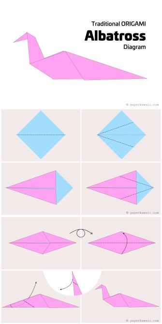 Origami Diagrams via @paper_kawaii