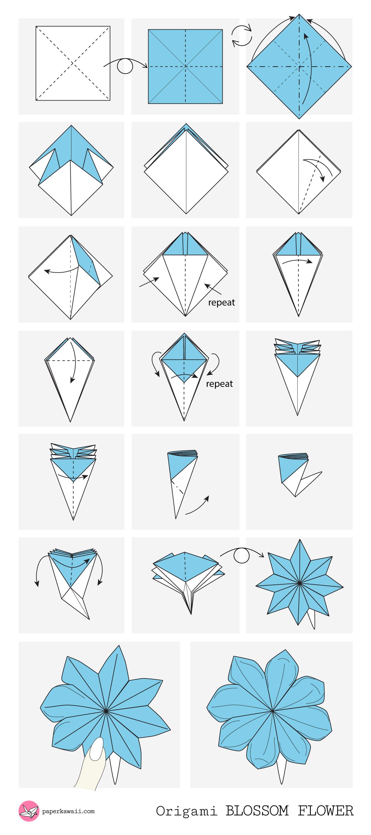 origami diagrams paper kawaii rh paperkawaii com origami flowers diagrams ''advanced'' origami flower diagram word